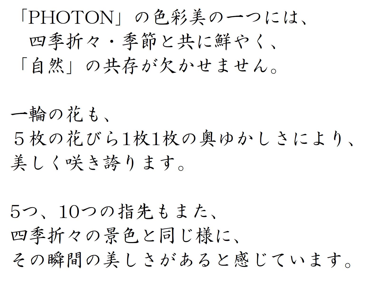 NAIL ARTIST コンセプト │ PHOTON ( フォトン )│private nail art lab Tokyo│ プライベート ネイル サロン │ 表参道 東京